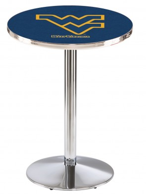 West Virginia Chrome L214 Logo Pub Table