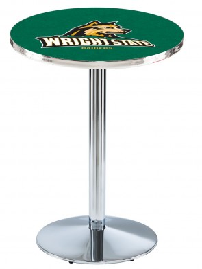 Wright State Chrome L214 Logo Pub Table