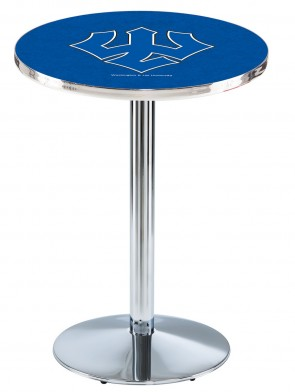 Washington & Lee Chrome L214 Logo Pub Table