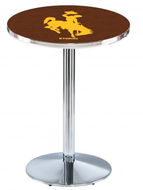 Wyoming Chrome L214 Logo Pub Table