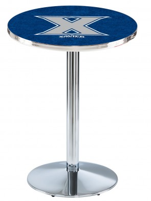 Xavier Chrome L214 Logo Pub Table