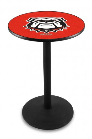Georgia L214 Bulldog Logo Pub Table