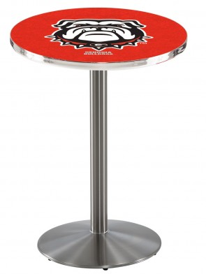 Georgia SS L214 Bulldog Logo Pub Table