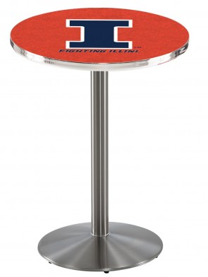 Illinois SS L214 Logo Pub Table