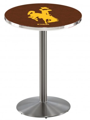 Wyoming SS L214 Logo Pub Table