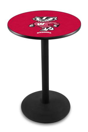 Wisconsin L214 Bucky Logo Pub Table