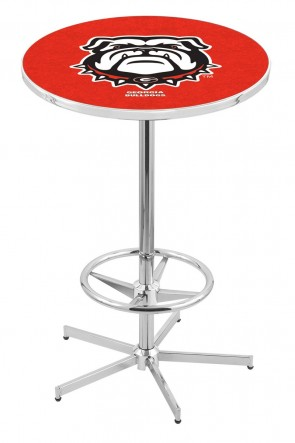 Georgia L216 Bulldog Logo Pub Table