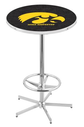Iowa L216 Logo Pub Table