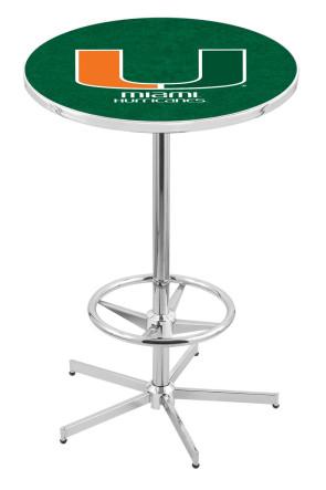Miami L216 Logo Pub Table
