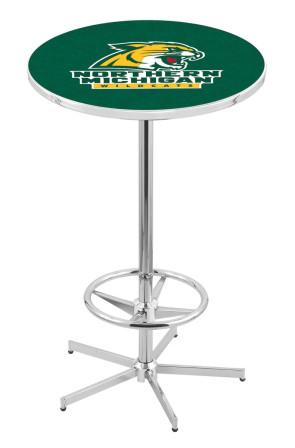 Northern Michigan L216 Logo Pub Table