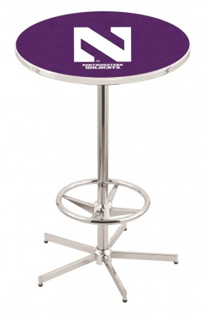 Northwestern L216 Logo Pub Table