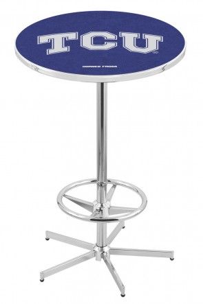 Texas Christian L216 Logo Pub Table