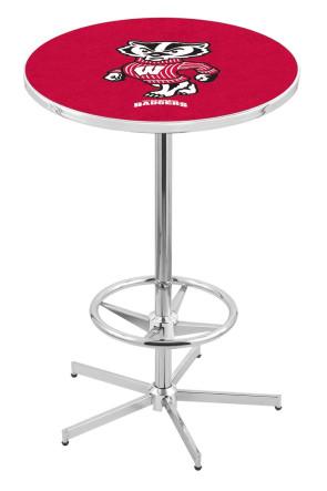 Wisconsin L216 Bucky Logo Pub Table
