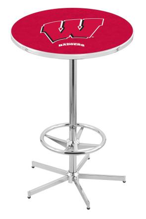 Wisconsin L216 W Logo Pub Table