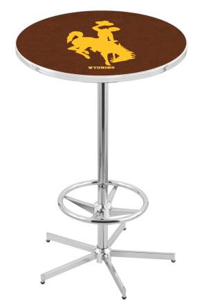 Wyoming L216 Logo Pub Table