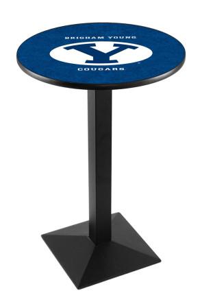 Brigham Young L217 Logo Pub Table