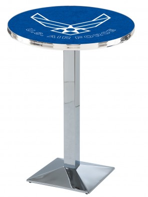 US Air Force Chrome L217 Logo Pub Table
