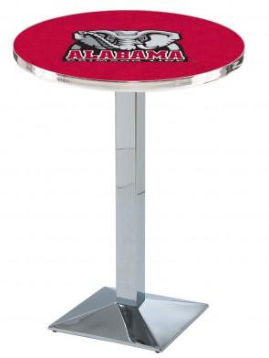 Alabama Chrome L217 Elephant Logo Pub Table