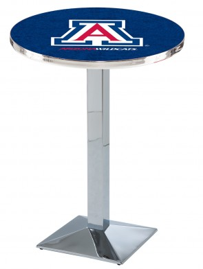 Arizona Chrome L217 Logo Pub Table