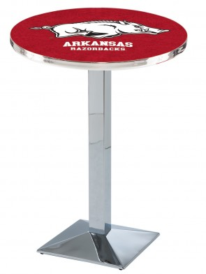 Arkansas Chrome L217 Logo Pub Table