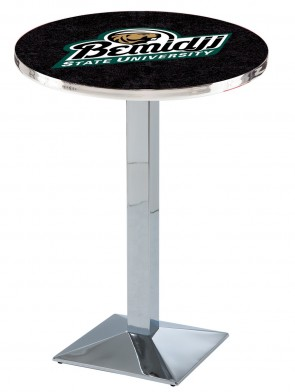 Bemidji State Chrome L217 Logo Pub Table