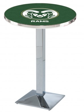 Colorado State Chrome L217 Logo Pub Table