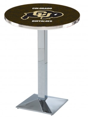 Colorado Chrome L217 Logo Pub Table
