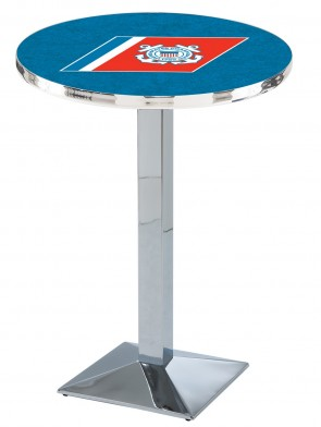 US Coast Guard Chrome L217 Logo Pub Table