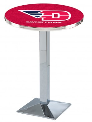 Dayton Chrome L217 Logo Pub Table