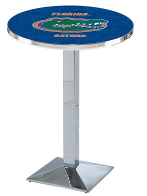 Florida Chrome L217 Logo Pub Table