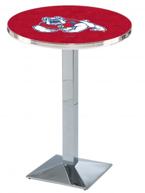Fresno State Chrome L217 Logo Pub Table