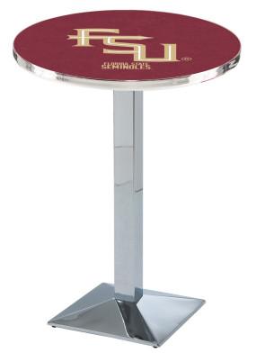 Florida State Chrome FSU Logo Pub Table