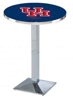 Houston Chrome L217 Logo Pub Table