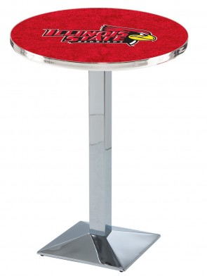 Illinois State Chrome L217 Logo Pub Table