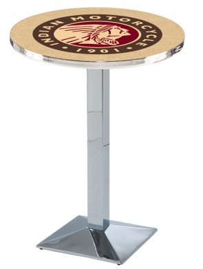 Indian Motorcycles Chrome L217 Logo Pub Table