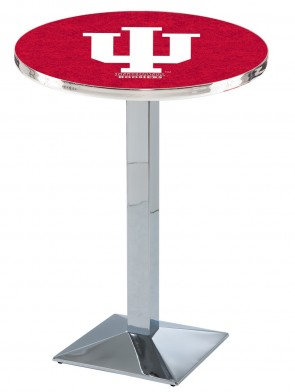 Indiana Chrome L217 Logo Pub Table