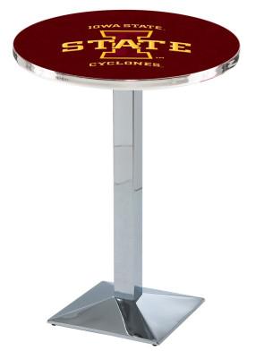 Iowa State Chrome L217 Logo Pub Table