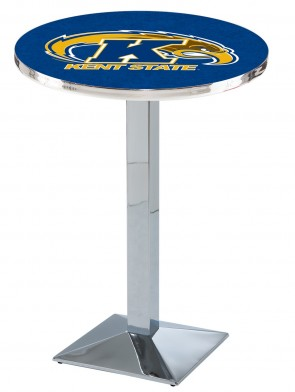 Kent State Chrome L217 Logo Pub Table