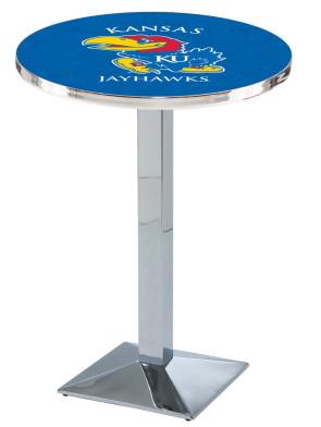 Kansas Chrome L217 Logo Pub Table