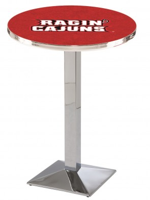 Louisiana at Lafayette Chrome L217 Logo Pub Table