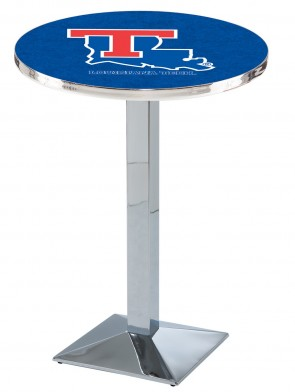 Louisiana Tech Chrome L217 Logo Pub Table