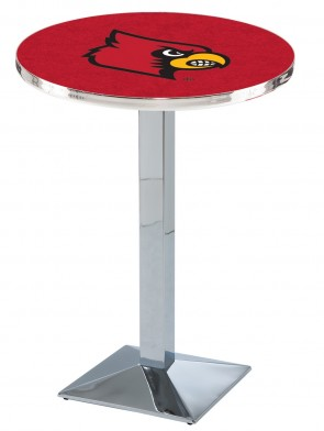 Louisville Chrome L217 Logo Pub Table