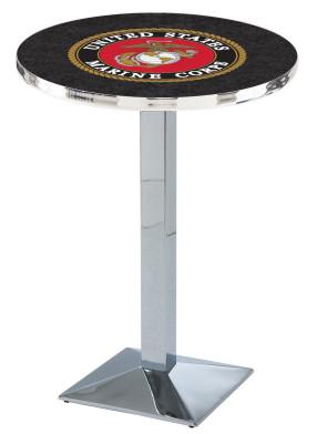 US Marine Corps Chrome L217 Logo Pub Table