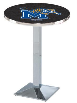 Memphis Chrome L217 Logo Pub Table