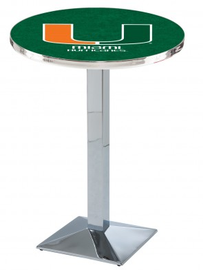 Miami Chrome L217 Logo Pub Table