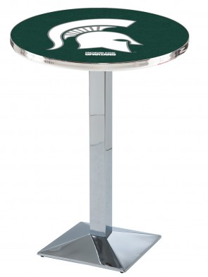 Michigan State Chrome L217 Logo Pub Table