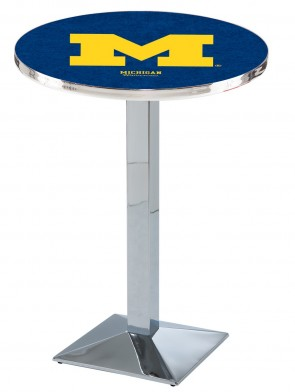 Michigan Chrome L217 Logo Pub Table