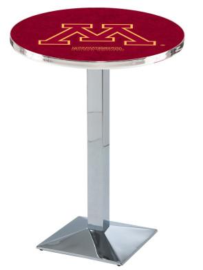 Minnesota Chrome L217 Logo Pub Table