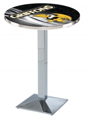 Missouri Western State Chrome L217 Logo Pub Table Design 2