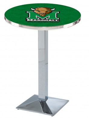 Marshall Chrome L217 Logo Pub Table